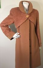 Lanicka Coat Jacket Light Brown Size 4US Wool Blend RARE!