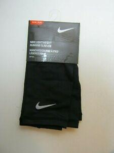 New Nike Lightweight Running Sleeves AC3397 Black/Silver Size S/M Unisex