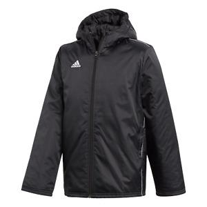 adidas Core 18 Stadionjacke Kinder schwarz (CE9058) Größe 140 *NEU*