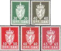 Norwegen D86x-D90x (kompl.Ausg.) postfrisch 1962 Staatswappen