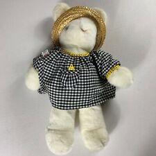"GUND Plush Rabbit VTG 1986 Bunny Tales Stuffed Straw Hat Dress 19"" Animal Large"