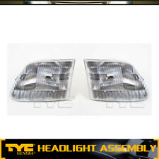 TYC 2pc Headlight Lamp Assembly Left Right Set For 1997-2002 Ford Expedition
