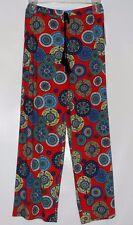 Sharagano Ladies Elastic Waist Palazzo Pants Red & Blue Small (S) MSRP $70.00