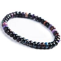 Genuine Natural Sugilite Purple South Africa Abacus Beads Woman Bracelet 8mm AAA