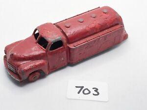 VINTAGE DINKY # 442 STUDEBAKER ESSO PETROL TANKER DIECAST TRUCK LORRY 1955 RED