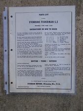 1959 Evinrude Fisherman 5.5 HP 5518 5519 Outboard Parts List MORE IN OUR STORE U