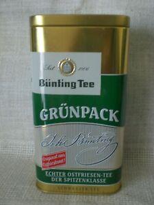 Bünting Tee Grünpack  Teedose Blechdose