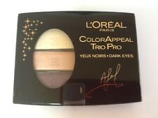L'OREAL COLOR APPEAL TRIO PRO EYE SHADOW. 340 PLUMB CRYSTALL FOR DARK EYES