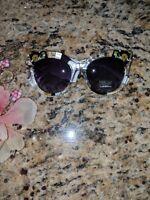 Fashion frames retro new oversized floral sunglasses women