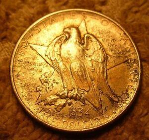 1934 Texas Commemorative Silver Half Dollar, Alamo Centennial