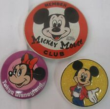 Disney Lot of 3 Pins Mickey Mouse Club, Tokyo Disneyland & Mickey Mouse