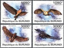 Burundi 2011 Owls/Birds/Raptors/Nature/Wildlife/Conservation 4v set (b6548c)