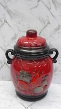 More details for rumtopf west germany pottery jar red rum pot