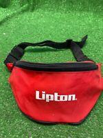 Lipton FANNY PACK BAG VINTAGE RED ZIPPERED ADJUSTABLE WAIST 1990'S RETRO SLING