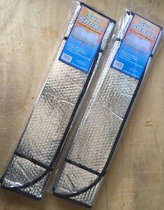 "2x Auto Windshield Sun Shade Car Cover both side aluminum 51""x24"""