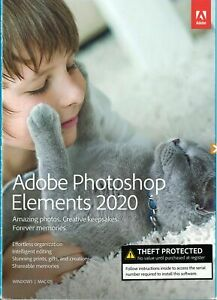Authentic Adobe Photoshop Elements 2020 - PC/Mac Disc Version New Factory Sealed