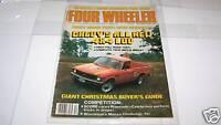 DEC 1978 FOUR WHEELER truck magazine