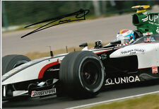 Bas Leinders Hand Signed Minardi Cosworth Photo 12x8 4.