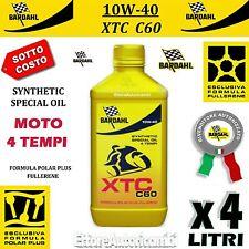 4 LITRI OLIO MOTO 4 TEMPI BARDAHL XTC C60 10W40 POLAR PLUS FULLERENE TAGLIANDO