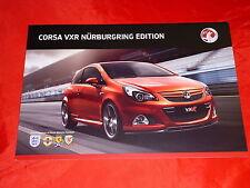 "VAUXHALL Corsa VXR ""Nürburgring Edition"" Sondermodell Prospekt von 2011"