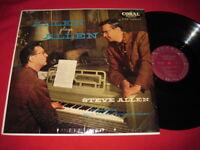 STEVE ALLEN LP - ALLEN PLAYS ALLEN - RARE JAZZ  VG+/NM