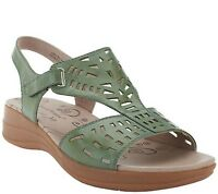 Bare Traps Perforated Leather Adj Strap Sandals Jordy PICK SIZE COLOR