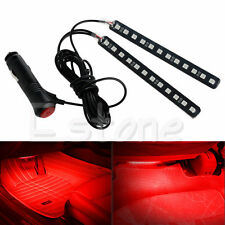 Car SUV Interior Red 2X12 LED Footwell Floor Decor Atmosphere Light Neon Strips