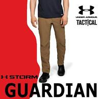 MEN'S UNDER ARMOUR TACTICAL GUARDIAN PANTS STORM CARGO UTILITY BROWN BLACK