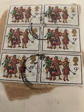 Gb 1978 Christmas Carol Singers Set Of 4 Used 9p Stamps