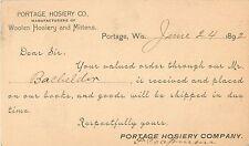 Portage Hosiery Co, Woolen Hosiery & Mittens, Portage Wisconsin WI 1892