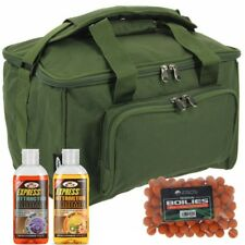 Carp Fishing Carryall Green Holdall Tackle Bag Quickfish by NGT + Boilies + Glug