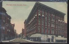 Postcard NORWICH Connecticut/CT  Broadway Drug Store & Wauregan Hotel view 1907