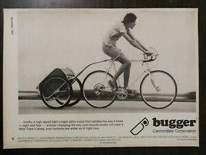 Vintage 1971 Bugger Bicycle Trailer Cannondale Corporation Full Page Original Ad