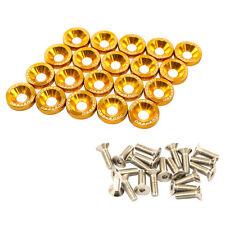 NEW GOLD CNC BILLET ALUMINUM FENDER WASHER BOLT ENGINE BAY DRESS UP KIT 20PCS