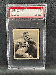 1948 Bowman #101 Joe Gottlieb PSA 5 Pittsburgh Steelers
