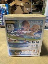 "New listing Intex 12 ft x 30 in Easy Set Swimming Pool w/ Filter Pump, 12' x 30"""
