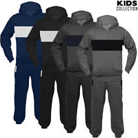 Junior Kids Girls Boys Tracksuit Set Fleece Hoodie Top Bottom Jogging 5 to13 Age