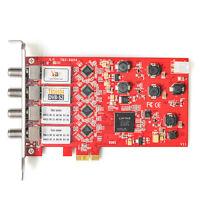 TBS6904 DVB-S2 Quad Satellite Tuner PCIe Card FTA Watch and Record Freesat HD