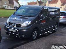 To Fit 02 - 14 Vauxhall Opel Vivaro SWB Steel Side Bars + Step Pads + LEDs x4