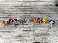 Set Of 9 Mini My Little Pony