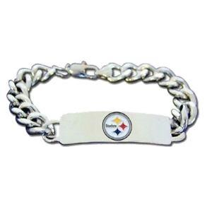 """Pittsburgh Steelers NFL 8.5"""" ID Bracelet"""
