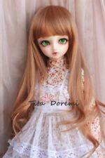 1 3 8-9 Bjd Wig Dal Pullip BJD SD LUTS MSD DOD DOC DD Dollfie Doll Brown  wigs