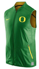 NIKE OREGON DUCKS MEN'S GAME DAY POLYESTER GREEN VEST Size XL $80