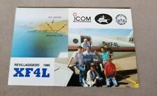 ICOM First In Communications EUDXF Revillagigedo 1989 XF4L qsl card Aviation qso