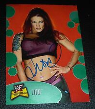 Lita Signed 2001 WWF WWE Fleer The Ultimate Diva Collection Card #47 Autograph