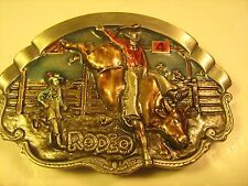 Belt Buckle RODEO 1981 Bergamot Brass Works BULL RIDER [Y115]
