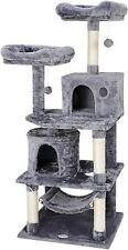 "57"" Cat Tree Condo Pet Furniture Activity Tower Play House with Perches Hammock"