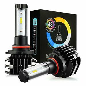 JDM ASTAR Pair White 8000LM LED Headlight Kit 9005 HB3 4S High Beam Power Bulbs