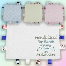 Handpicked for Earth Grandad Embroidered Baby Dimple Taggy Gift Blanket Heaven
