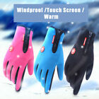 Windproof Men's Womens Winter Ski Warm Gloves Motorcycle Touch Driving Gloves